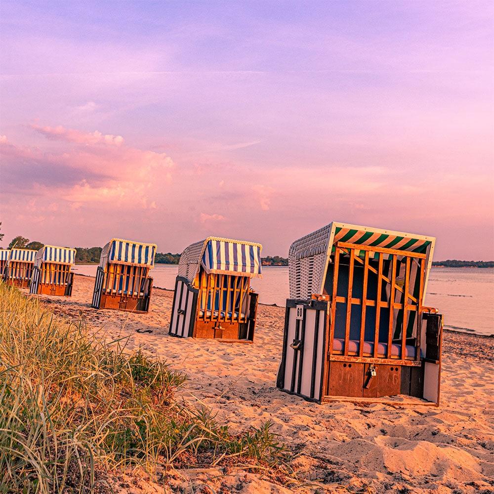 Strandkörbe an der Wohlenberger Wiek